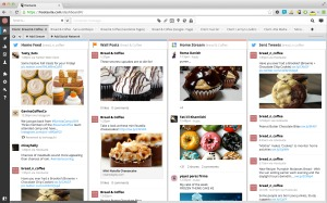 screenshot of hootsuite dashboard