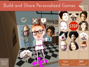 A screenshot of Papercade showing a game being personalized in the editor